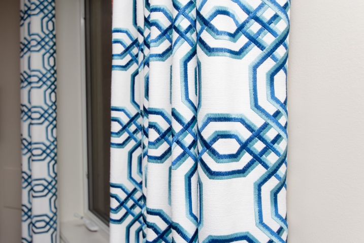 Blue and White Drapes