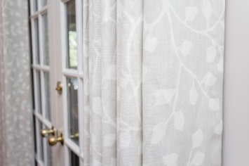 Patterned White Drapes
