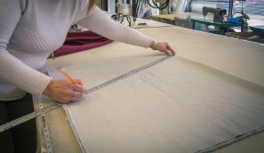 work room measurements in maple drapery