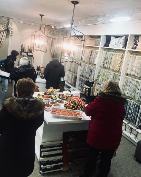 Customers enjoying Maple Drapery's Customer Appreciation Night