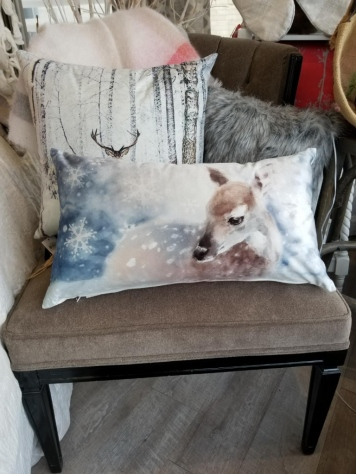Seasonal Winter Pillow - Deer